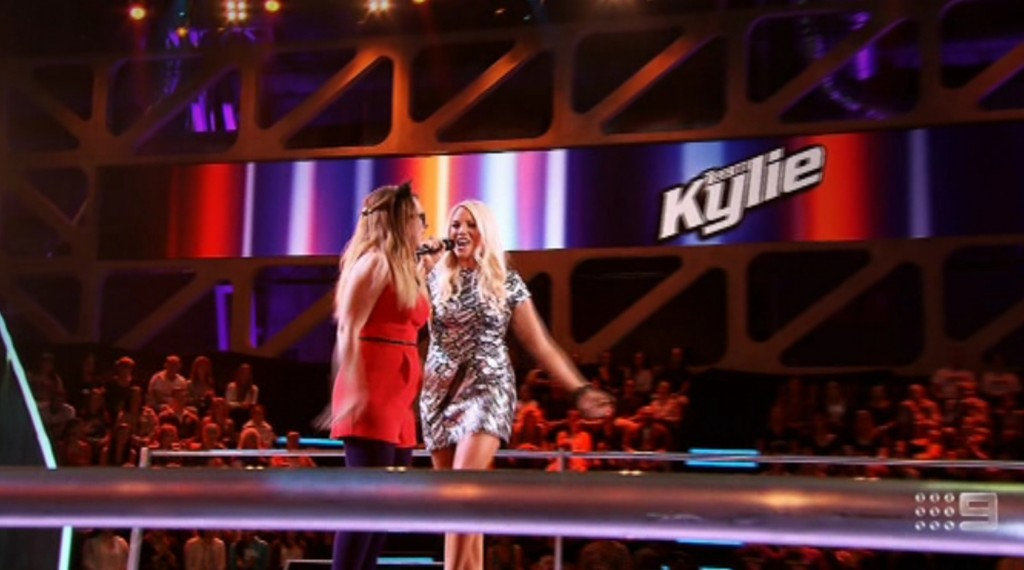 "KYLIE MINOGUE TO HAYLEY: ""You're the package already!"" #TheVoiceAu #BattleRounds"