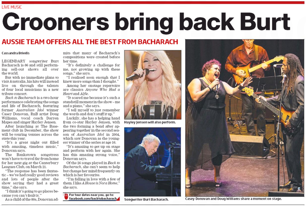 Local press backing Back to Bacharach