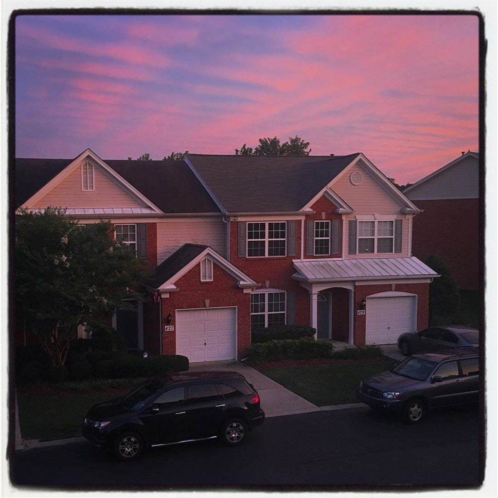 Aww! nashville your sunsets are so pretty nashvillesunset beautiful pinkskyhellip