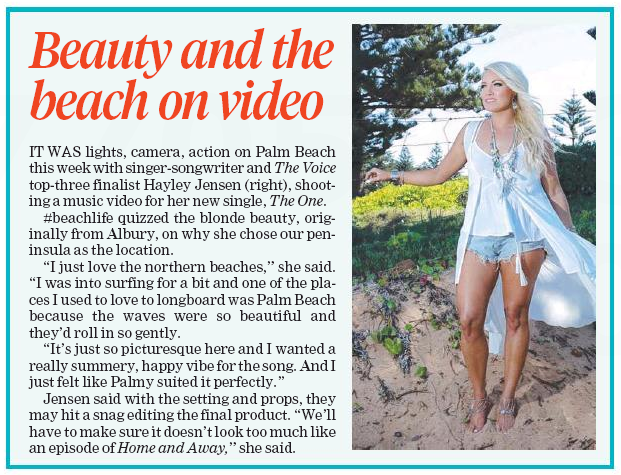"""Beauty and the beach on video"""