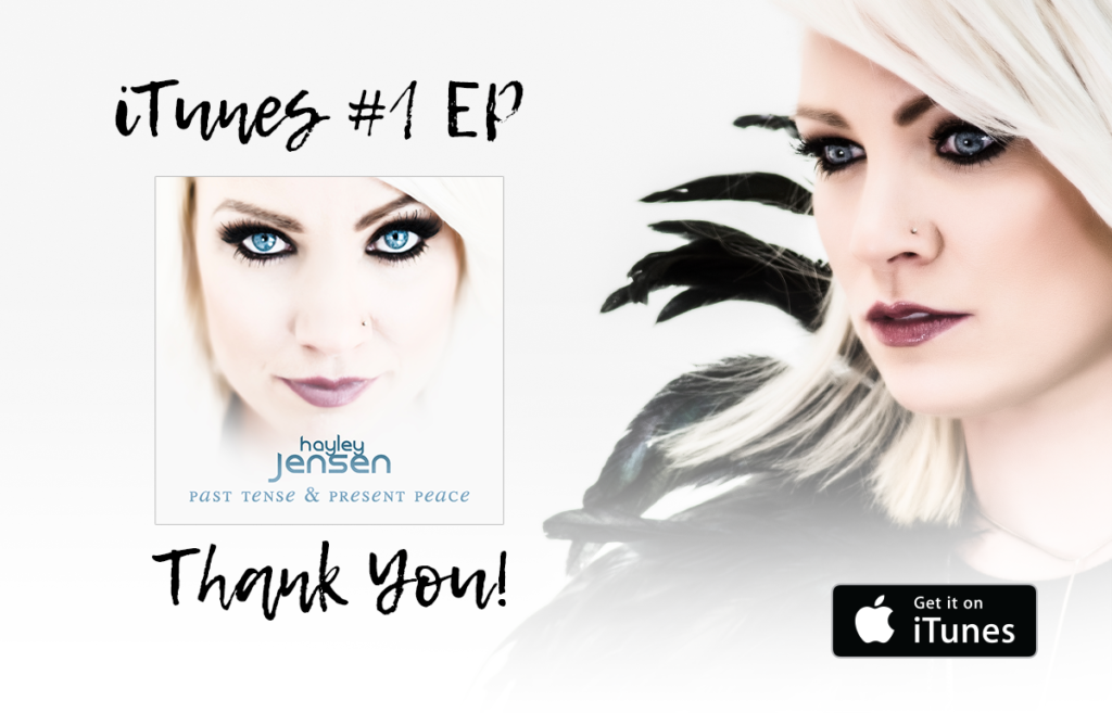 "New EP ""Past Tense & Present Peace"" straight to #1 in iTunes charts"