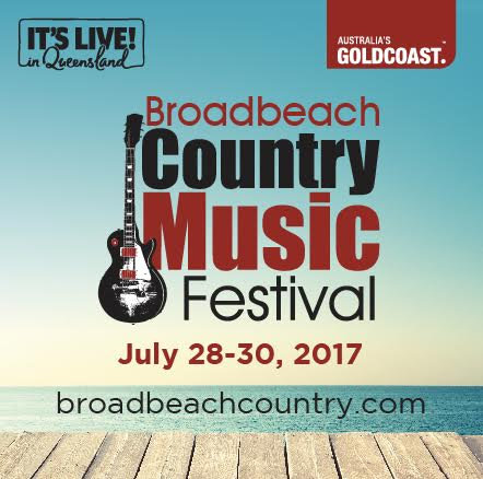 Hayley announced in Broadbeach Country Music Festival Lineup – 28 – 30 July2017