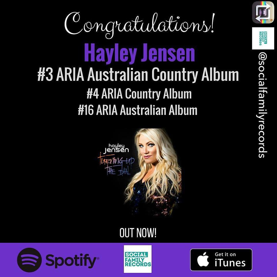 'Turning Up The Dial' Album debuts at #2 iTunes Country + #3 ARIA Aus Country & #16 All Genre Charts!