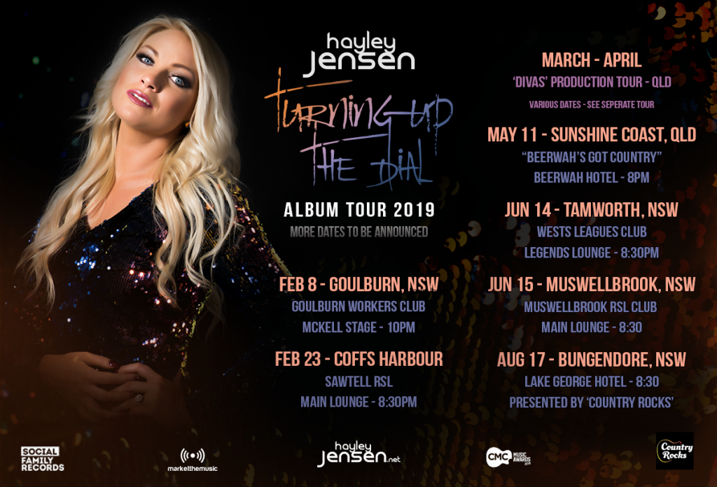 'Turning Up The Dial' album tour across the country in 2019