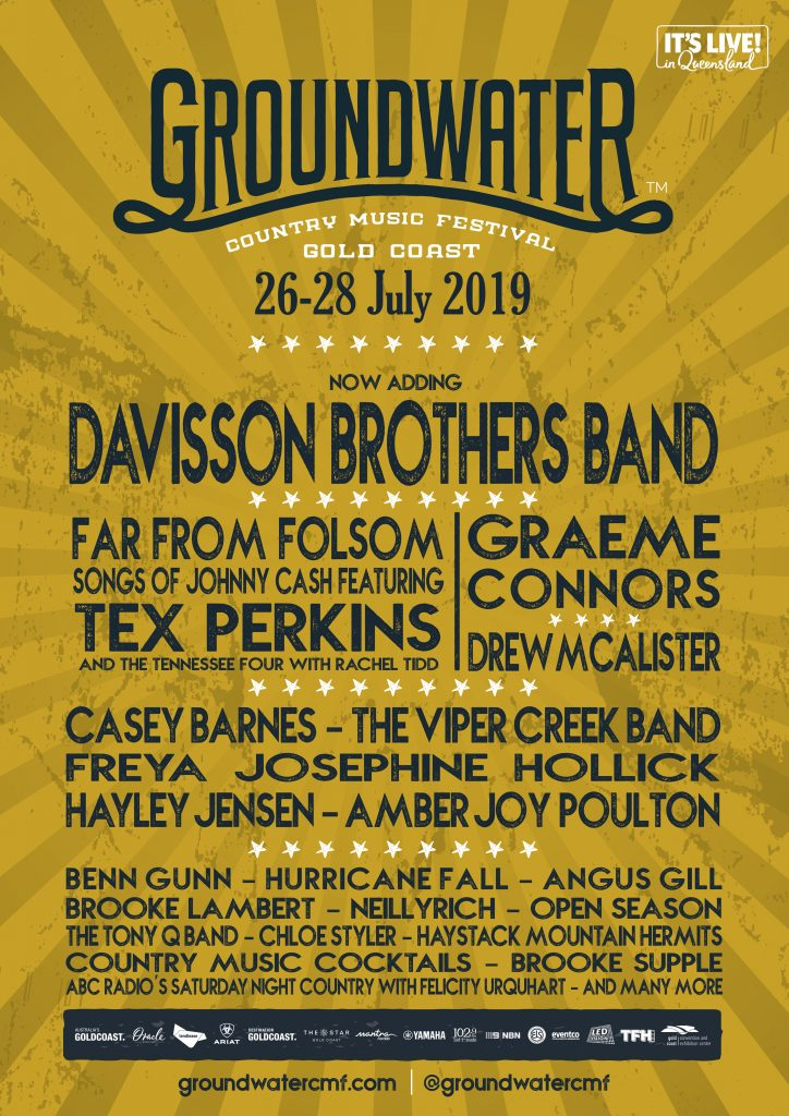 Groundwater Country Music Festival 26-28 July 2019